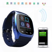 Smartwatch Bluetooth Armbanduhr M26 für Android Iphone Samsung Blau