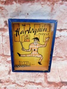 """VINTAGE 1950s """"THE HARLEQUIN"""" HAND HELD PUZZLE BY R.JOURNET LONDON."""
