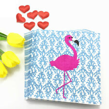 20Pcs Cute Greater Pink Flamingo Paper Napkin For Birthday Party Decors Wedding