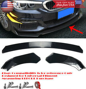 3 Pieces Bumper LSpoiler Diffuser Splitter Shark Fin Winglet For Nissan Infiniti