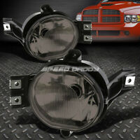 FOR 02-09 DODGE RAM 1500 2500 3500 SMOKED LENS BUMPER DRIVING FOG LIGHT LAMPS