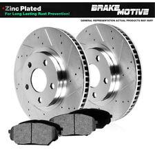 2 Platinum Hart *DRILLED /& SLOTTED* Front Disc Brake Rotors FRONT KIT 1780