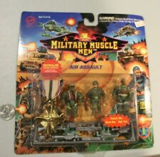 """SEALED 1993 Military Muscle Men Air Assault 2"""" Figures MOC NOS guns medal carded"""