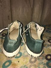 VINTAGE Made in USA GREEN Men's Sz 4.5 CONVERSE All Star CHUCK TAYLOR low SHOES