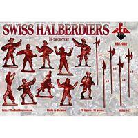 Swiss Halberdiers 16th Century 20 figures Red Box 1/72 Scale Plastic #72062
