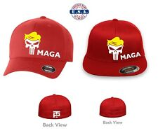 TRUMP MAGA PUNISHER MAKE AMERICA GREAT AGAIN Flex Fit HAT FREE SHIPPING in  BOX 13c61877b99d