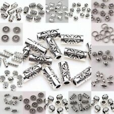 Wholesale 100/50 Tibetan Silver Loose Spacer Beads Charm Findings Jewelry Making