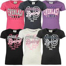 Everlast Damen T-Shirt Fitness Logo Tee Shirt 6 Farben NEU Boxen Ld63 XS-3XL Neu