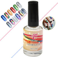 2 pcs Galaxy Star Glue Adhesive for Foil Sticker Nail Art Transfer Tips 15ml
