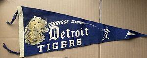 Vintage Detroit Tigers Briggs Stadium Pennant 1948 VG Condition Baseball