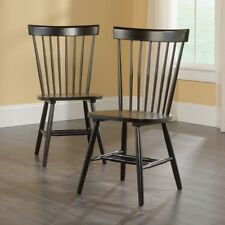 Sauder 418892 New Grange Spindle Back Dining Chair In Black Finish Set Of 2 New
