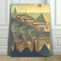 "MIKALOJUS CIURLIONIS - Allegro - Pyramids -  CANVAS PRINT POSTER - 12x8"""