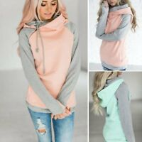 New Women Pullover Tops Long Sleeve Hoodie Sweatshirt Sweater Hooded Jumper Coat