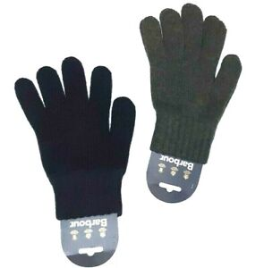 Discount 30% Barbour Gloves Wool MGL0006 Lambswool Gloves Seamless Green