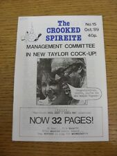 Oct-1989 Chesterfield: The Crooked Spireite  No.15 - Independent Football Magazi