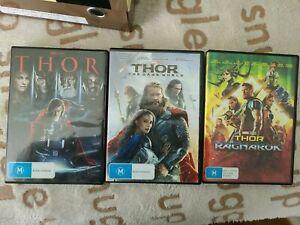 Thor 1, 2, 3 Dvds Region 4