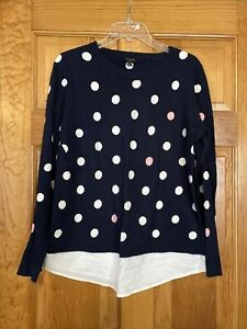 Talbots Sweater With Faux Shirttail Size M