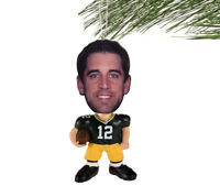 Green Bay Packers NFL Flathlete Aaron Rodgers #12 Resin Christmas Ornament