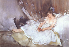 William Russell Flint CECILIA READING POEMS Art