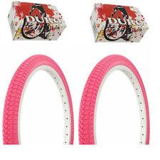 "1PAIR!Duro Bicycle Bike Tires & Tubes 20"" x 1.75"" Pink Side Bike Tire Bmx Tire"
