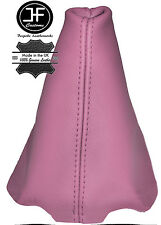 PINK LEATHER FITS PEUGEOT 206 206 CC 1998-2012 GEAR GAITER REAL LEATHER
