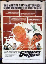 "Five Fingers of Death {Lieh Lo} 41x27"" Original Movie Poster 1970s"
