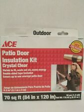 """SET OF 2 ACE Patio Door Insulation Kit Crystal Clear 84""""  x 120"""""""