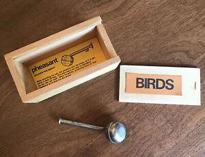Quelle Est Belle Company France Golden Pheasant Call Whistle Wood Box