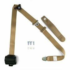 Tan Retractable Front Shoulder Seat Belt Jeep CJ YJ Wrangler 82-95 3 Point Mopar