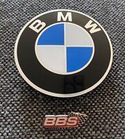 Original BBS / Bmw Nabendeckel Emblem Symbolscheiben 70mm 3 Tab