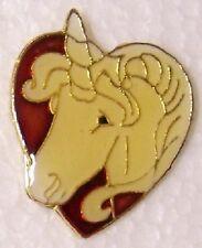 Hat Lapel Pin Scarf Clasp Animal Unicorn Head Heart NEW