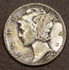 1944 D Silver Mercury Dime! Rare, Extremely Fine condition, d287