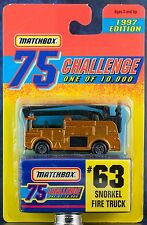 Matchbox MB 63 Snorkel Fire Truck 75 Challenge 1997 Edition New On Card