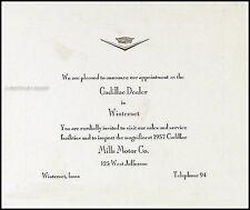 1957 Cadillac Original Invitation Sales Card