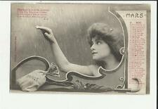 cartolina calendario mese marzo mars  1904