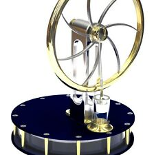 Anodized Black Stirling Engine READY IN GIFT BOX hotair