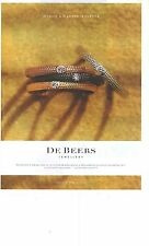 "PUBLICITE ADVERTISING 2011  DE BEERS jewellery ""because a diamond is forever"""