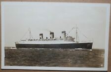 RMS QUEEN MARY WHITE STAR LINE SHIP PHOTO POSTCARD NY