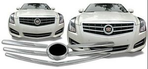 Cadillac ATS 2013 2014 2015 CHROME GRILLE OVERLAY INSERTS!!