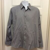 Theory Men's Shirt XL Blue Green White Plaid Print Button Front Long Sleeve