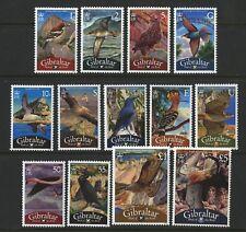 Birds of the Rock set of 13 stamps mnh Gibraltar 2008 Eagle Owl Kestrel Buzzard
