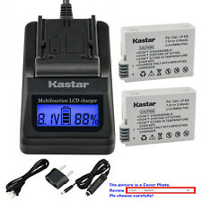 Kastar Battery LCD Fast Charger for Canon LP-E8 E8 Battery LC-E8 LC-E8E Charger