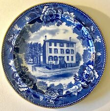 Vtg Wedgwood Historical Blue Collector Plate Henry Longfellow's Home Portland Me