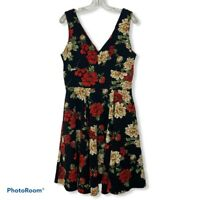 Modcloth IXIA Floral Print Fit-n-Flare Dress Size XL Career Spring Formal GUC