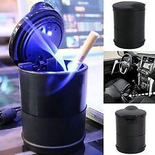 KFZ Auto Aschenbecher LED Beleuchtung Hochglanz Autoaschenbecher Schwarz NEU