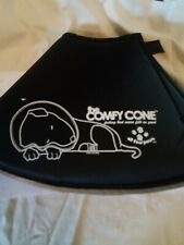 The Comfy Cone Large 25 Cm Pet E-Collar Water Resistant for Dogs & Cats Black