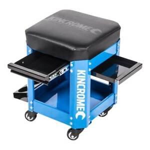 Kincrome 2 Drawer Workshop Creeper Seat Car Auto Mechanic Repairs Garage Floor