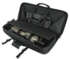 "28"" Deluxe Compact Rifle Bag AR15 AK Tactical Pistol Subgun SBR Case Black."