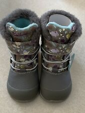 See Kai Run Toddler Girl's Waterproof Insulated Boots Gray Woodland Size 8 New