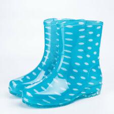 Women's Ankle Rain Boots Anti Slip Waterproof Slip On  Rubber Gardon Work Shoes